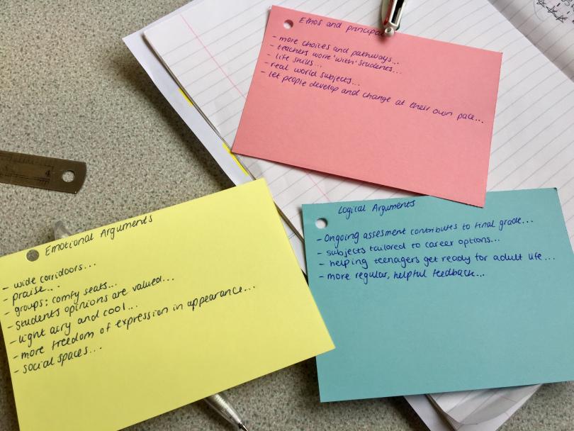 Collaborating persuasive writing